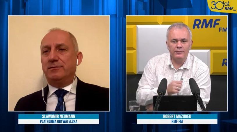 Sławomir Neumann w rozmowie z Robertem Mazurkiem /RMF