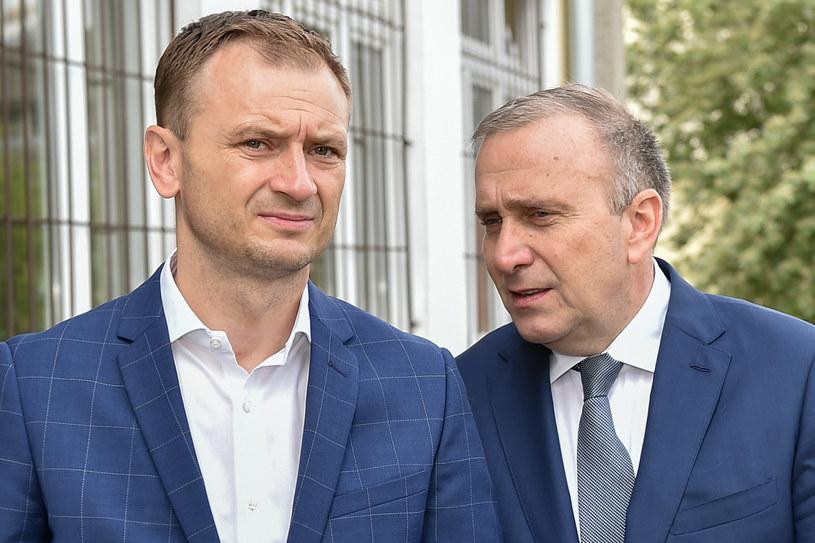 Sławomir Nitras i Grzegorz Schetyna /Lukasz Dejnarowicz / FORUM /FORUM