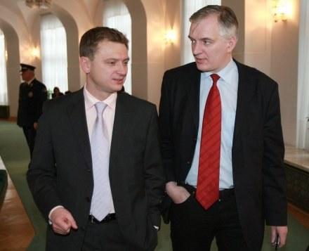 Sławomir Nitras i Jarosław Gowin/fot. P. Bławicki /Agencja SE/East News