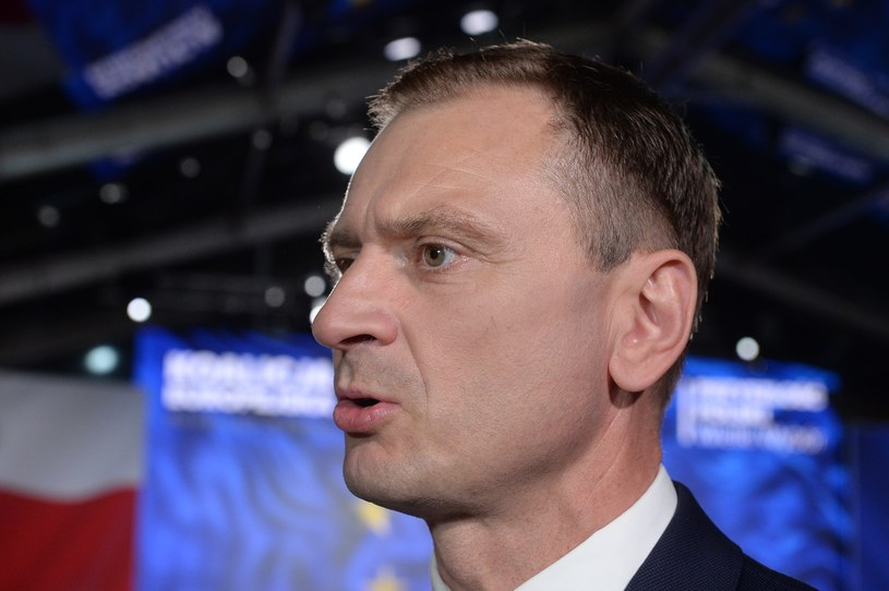 Sławomir Nitras podczas wieczoru wyborczego Koalicji Europejskiej /Jan Bielecki /East News