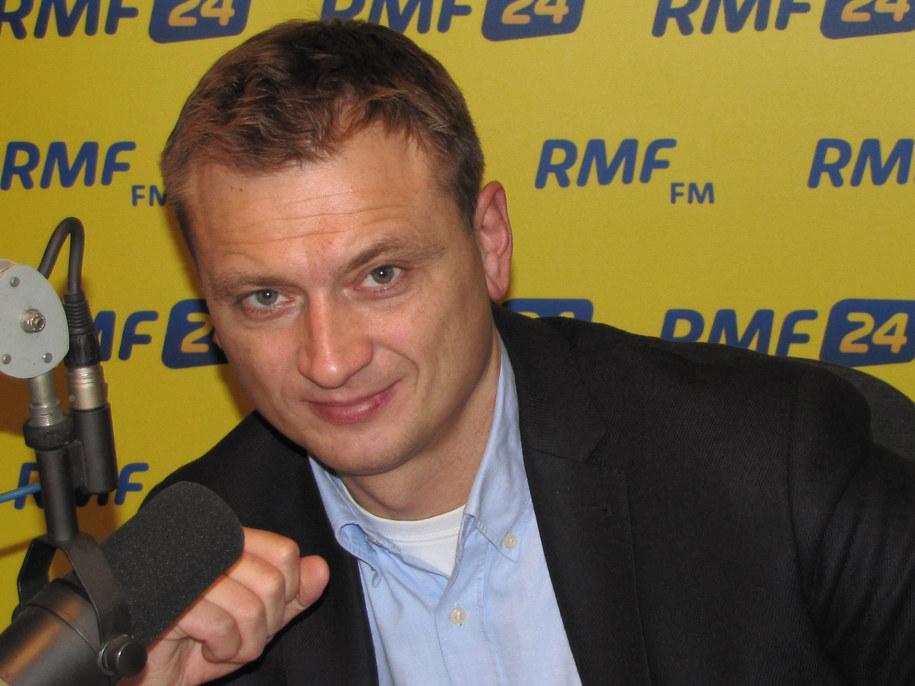 Sławomir Nitras w szczecińskim studiu RMF FM.  /Fot. Grzegorz Hatylak /RMF FM
