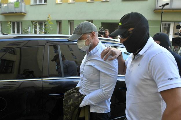 Sławomir Nowak doprowadzany na posiedzenie aresztowe w Sądzie Rejonowym w Warszawie / Radek Pietruszka   /PAP
