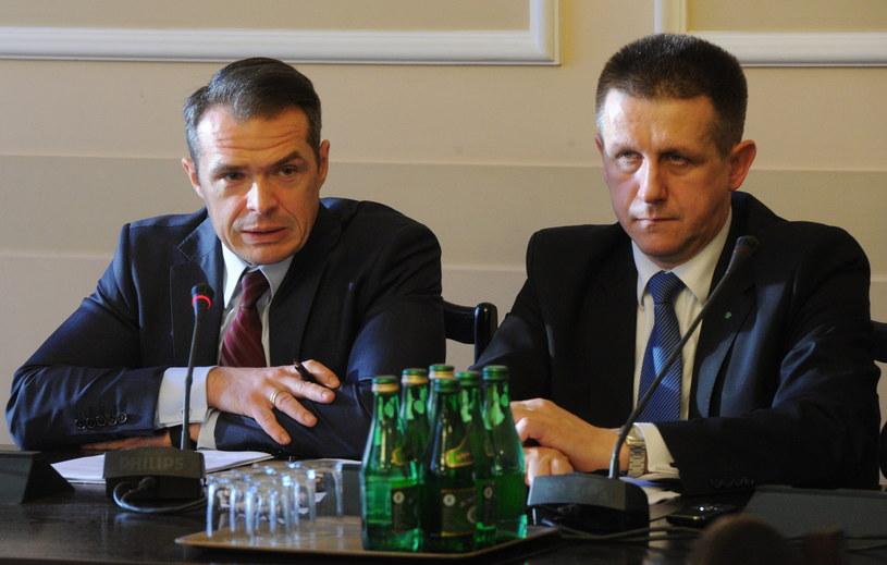 Sławomir Nowak i Jan Bury /Grzegorz Jakubowski /PAP