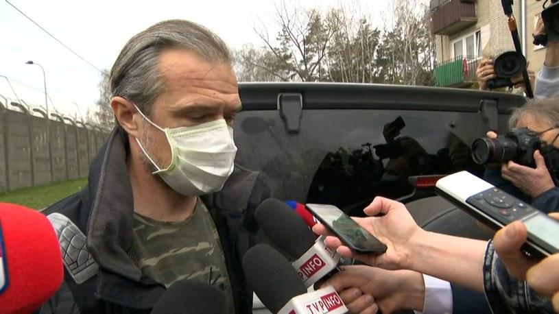 Sławomir Nowak po wyjściu z aresztu /Polsat News
