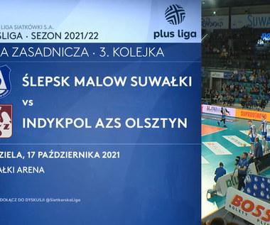 Ślepsk Malow Suwałki - Indykpol AZS Olsztyn. SKRÓT. WIDEO (Polsat Sport)