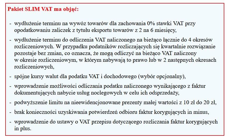 SLIM VAT uproszcza podatki /Gazeta Podatkowa