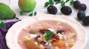 Śliwkowa zupa z domowymi kluseczkami