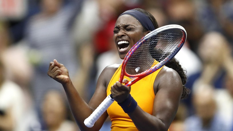 Sloane Stephens of the United States celebrates victory during her women's singles third round match against Victoria Azarenka /Getty Images