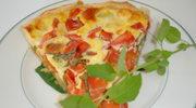 Sloneczna tarta: cukinia, pomidory, mozzarella
