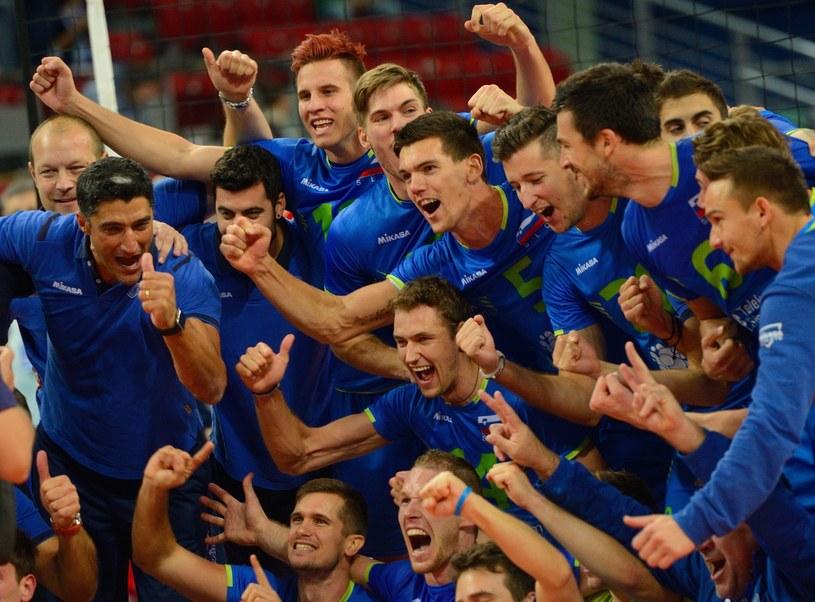 Słoweńcy świętują awans do półfinału mistrzostw Europy /PAP/EPA