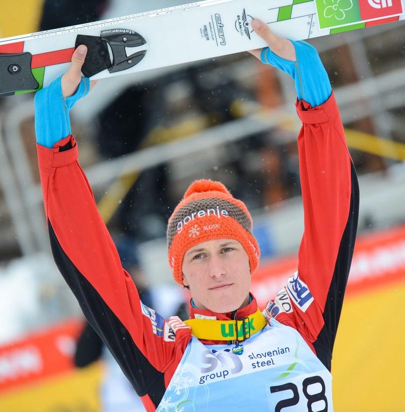 Słoweński skoczek narciarski Peter Prevc /AFP