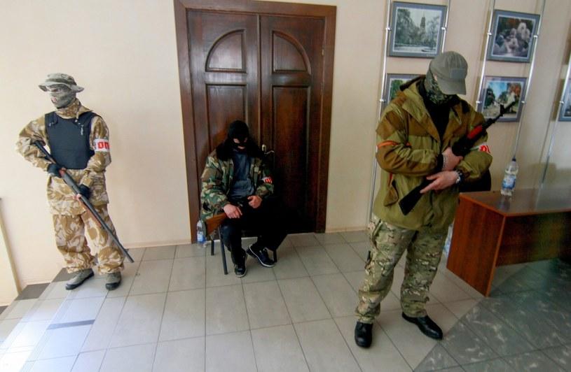 Słowiańsk został całkowicie opanowany przez separatystów. /PAP/EPA