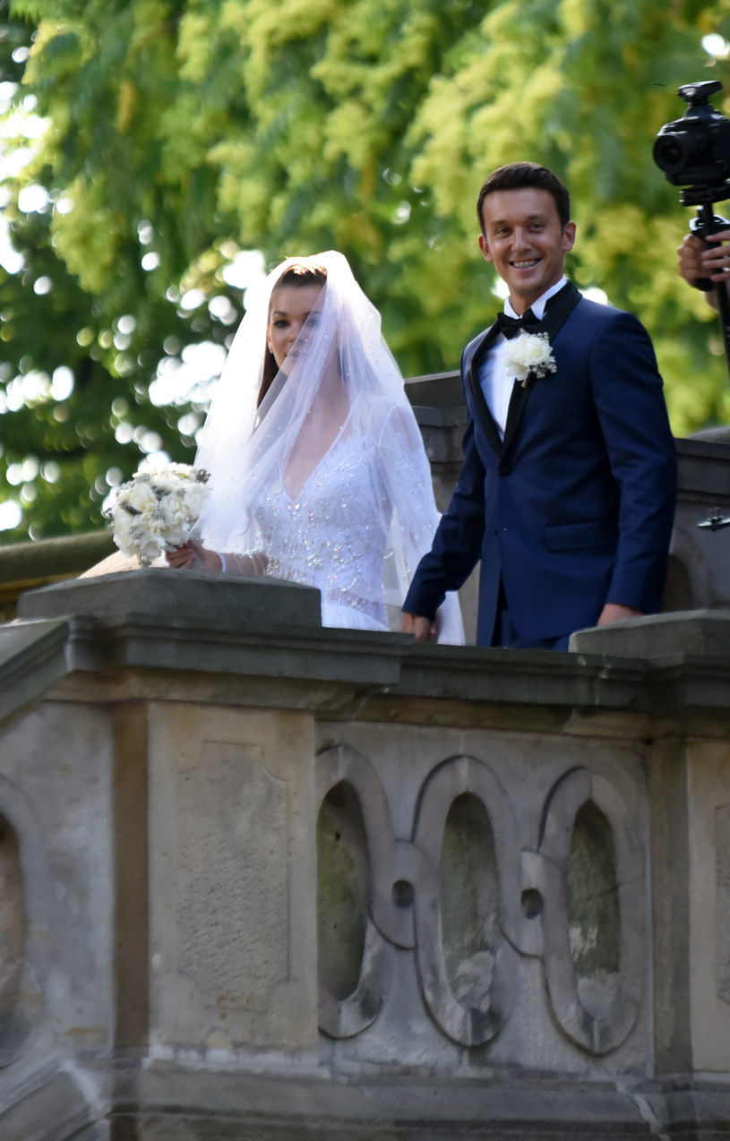 Ślub Agnieszki Radwańskiej i Dawida Celta /MWMedia /MWMedia