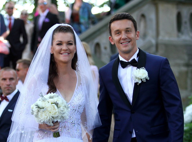 Ślub Agnieszki Radwańskiej i Dawida Celta /Krzysztof Porębski /PAP/Newscom