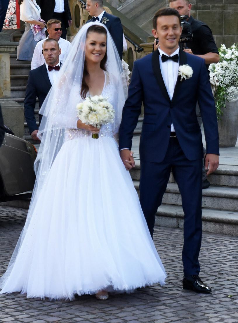 Ślub Agnieszki Radwańskiej w 2017 roku /M. Lasyk /East News