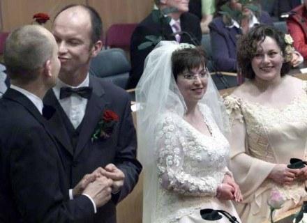 Ślub Anne-Marie Thus i Helene Faasen /AFP