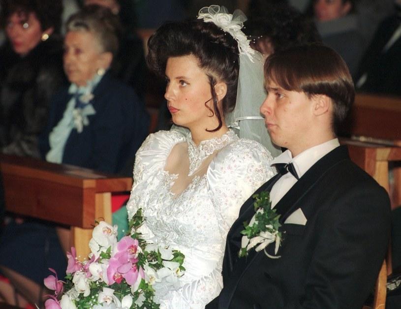 Ślub Bogdana Wałęsy z pierwszą żoną, Agnieszką /Jan Skarżyński /Reporter