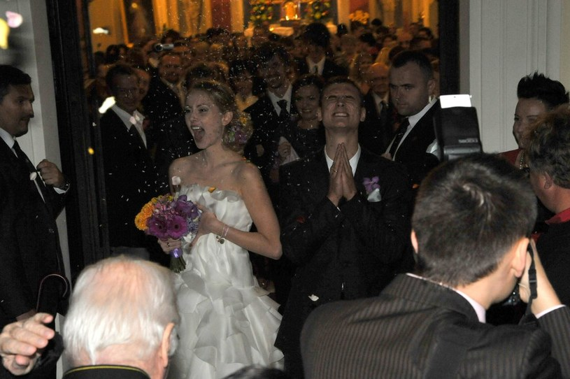 Ślub Damięckiego z Krogulską /- /East News