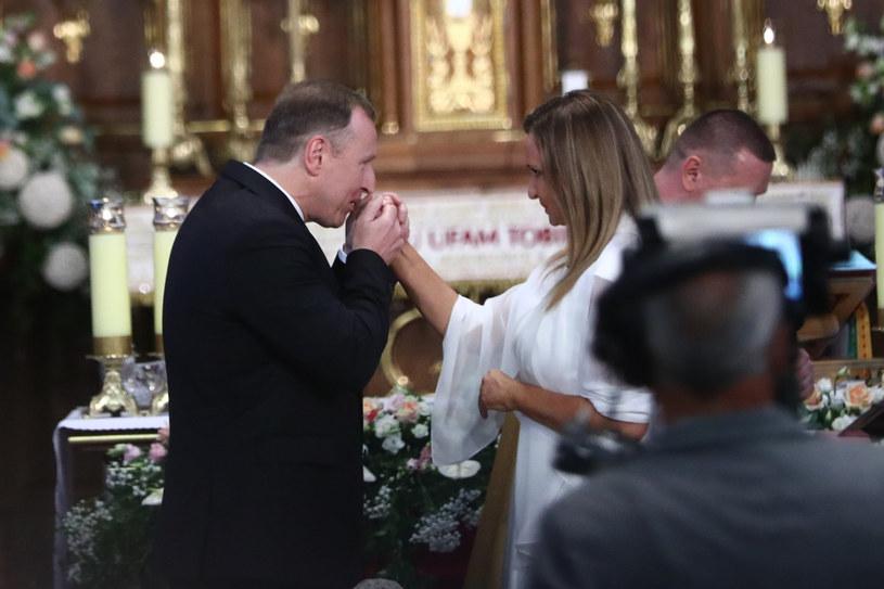 Ślub Jacka Kurskiego w Sanktuarium Bożego Miłosierdzia w Łagiewnikach. /Beata Zawrzel/REPORTER /Reporter