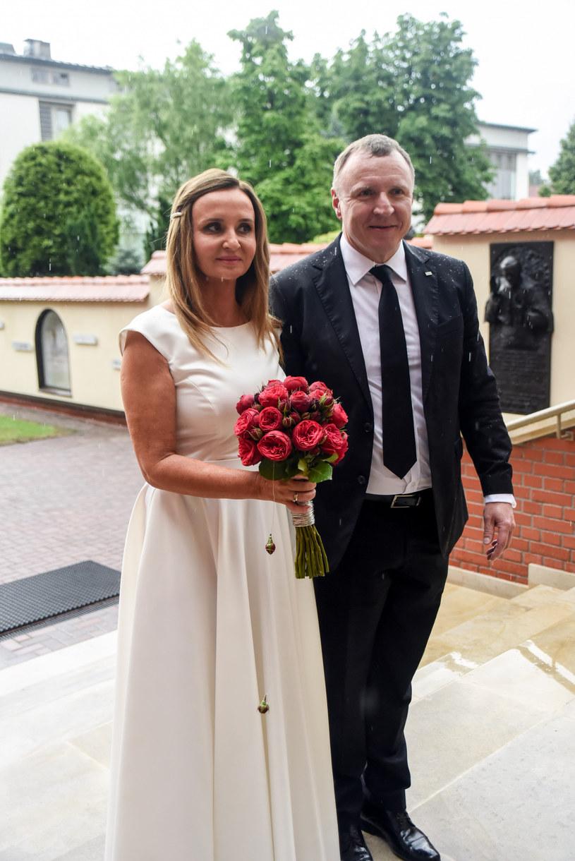 The wedding of Joanna and Jacek Kurski / Marek Lasyk / REPORTER
