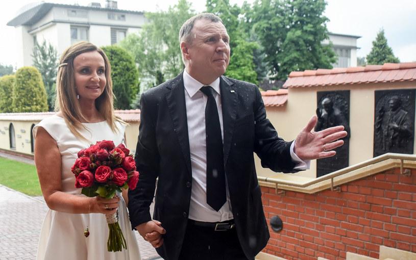 Ślub Joanny i Jacka Kurskich /Marek Lasyk/REPORTER  /East News