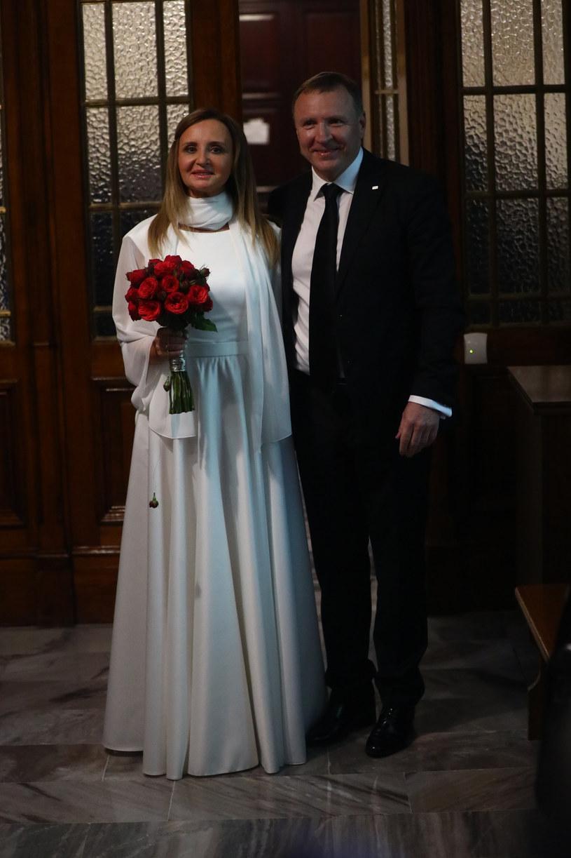 Ślub Joanny i Jacka Kurskich /Beata Zawrzel/REPORTER