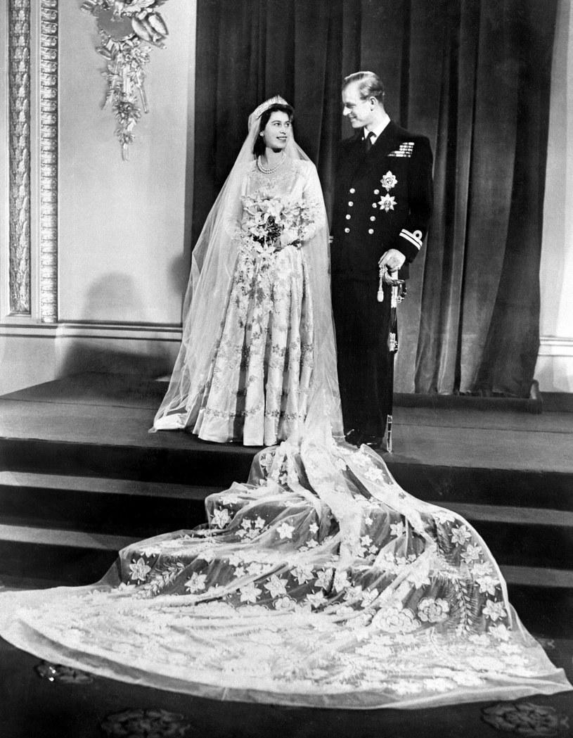 Ślub królowej Elżbiety II i księcia Filipia /AFP