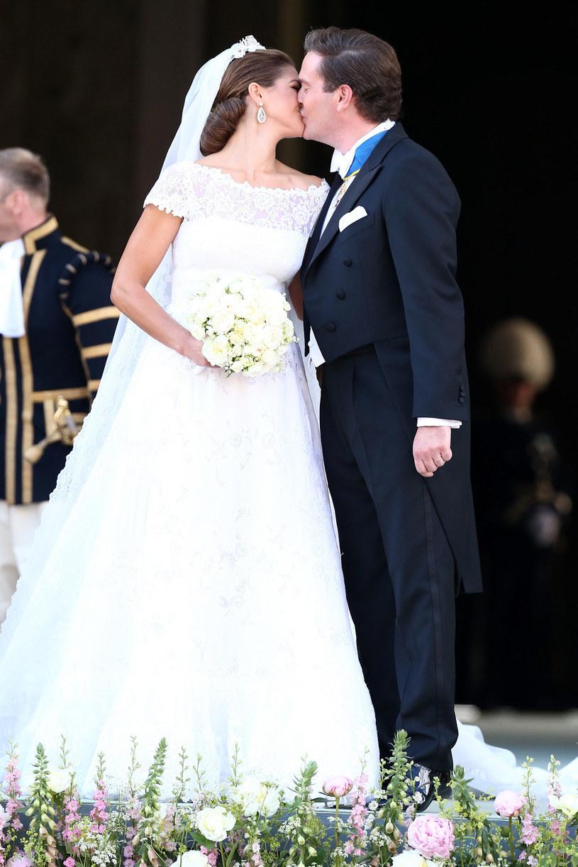 Ślub księżniczki Madeleine i Christophera O'Neilla odbył się 8 czerwca 2013 roku /Getty Images