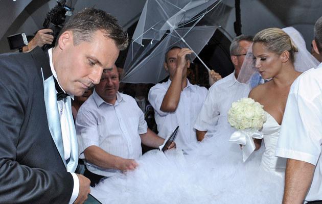 Ślub Liszowskiej i Serneke, fot. Andras Szilagyi  /MWMedia