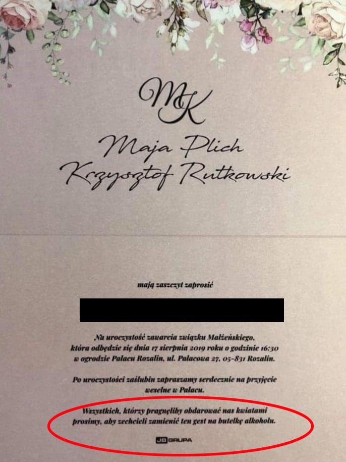 Ślub Mai Plich i Krzysztofa Rutkowskiego 17 sierpnia /