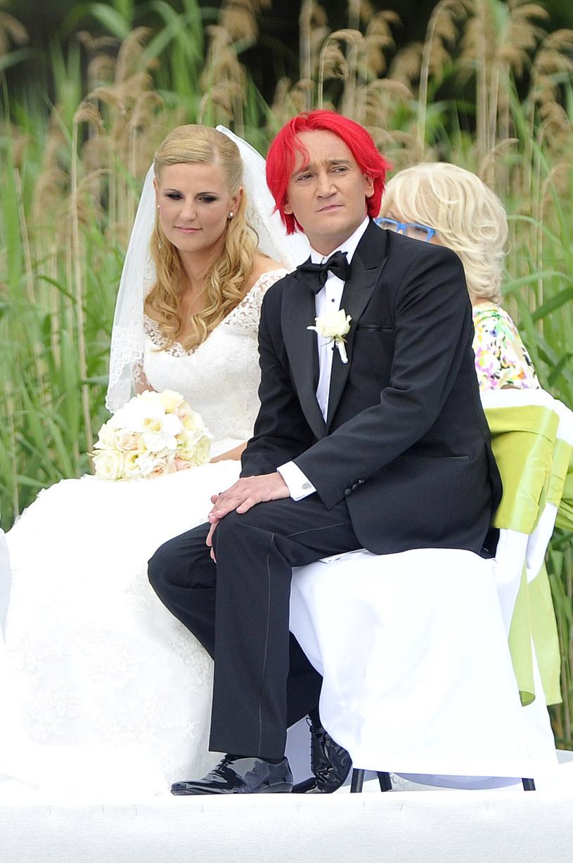 Ślub Michała Wiśniewskiego i Dominiki, 2012 rok /Baranowski Michał  /AKPA