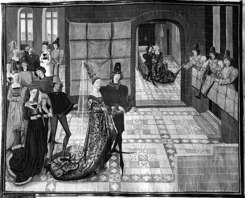 Ślub w średniowieczu - iluminacja /East News
