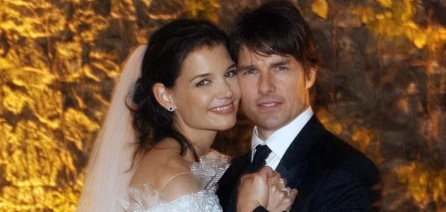 Ślubne zdjęcie Toma i Katie  /AFP