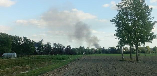 Słup dymu widoczny jest z daleka /Gorąca Linia RMF FM /