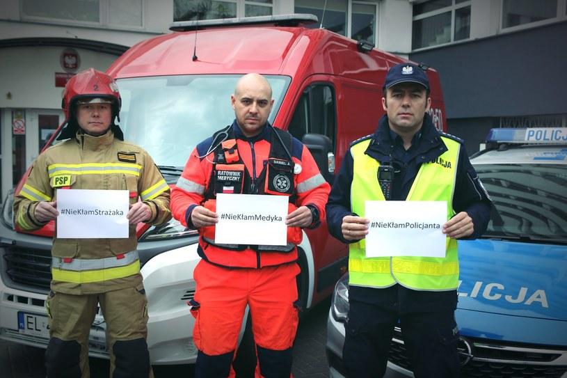 Służby angażują się w akcję #NieKłamRatownikom /Policja Województwa Łódzkiego /facebook.com