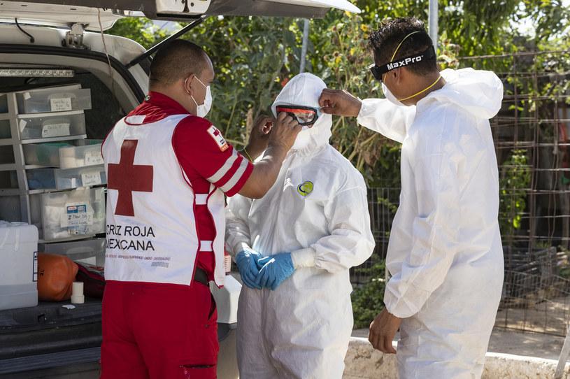 Służby medyczne Meksyku wciąż walczą z pandemią, zdj. ilustracyjne / Alfredo Martinez /Getty Images