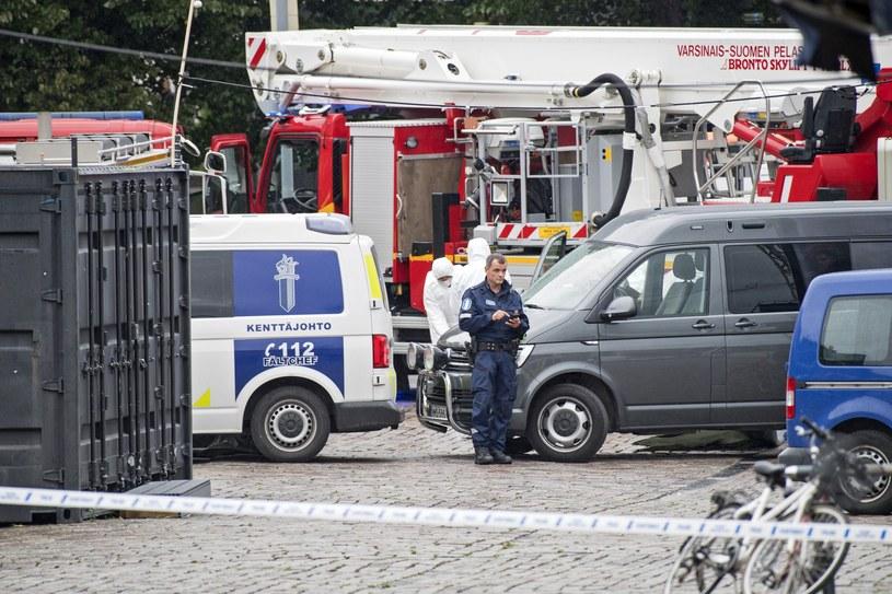 Służby na miejscu ataku w Turku /STRINGER /PAP/EPA