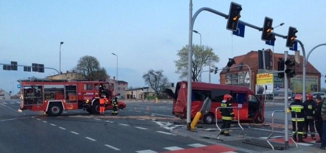 Służby na miejscu wypadku /Bartek Paulus, RMF FM /RMF FM
