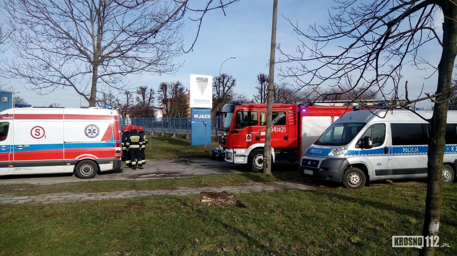 Służby na miejscu wypadku /krosno112.pl /