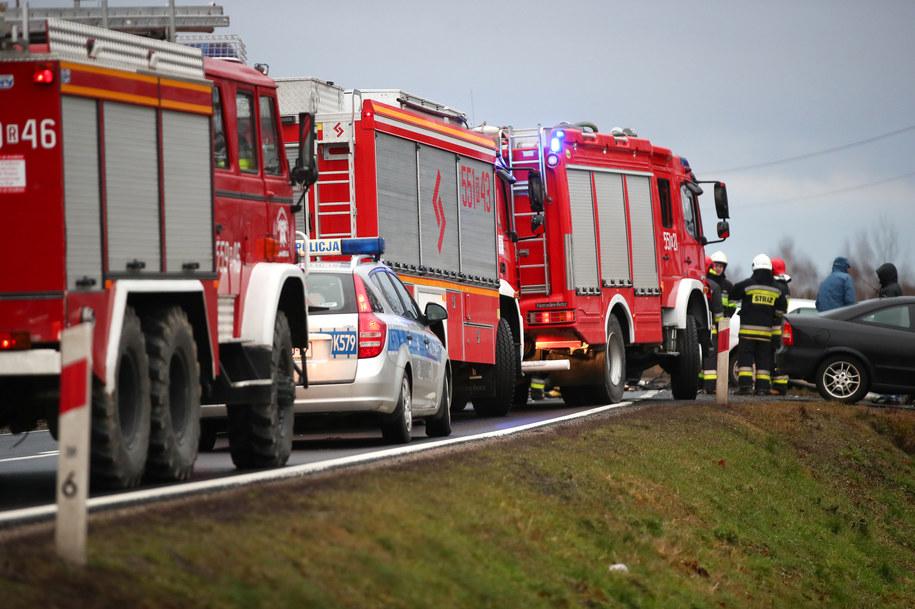 Służby na miejscu wypadku /Fot. Stalowka.NET / Jacek Rodecki /