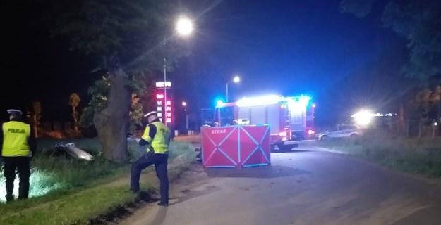 Służby na miejscu wypadku /elblag.policja.gov.pl /