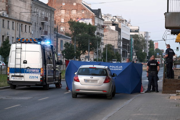 Służby na miejscu wypadku /Mateusz Marek /PAP