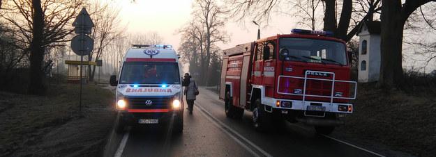 Służby na miejscu zdarzenia /Oświęcim 112 /Gorąca Linia RMF FM