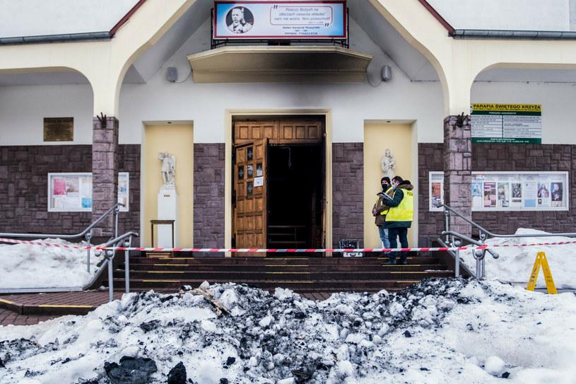 Służby na miejscu zdarzenia /Bartlomiej Wojtowicz/REPORTER /Reporter