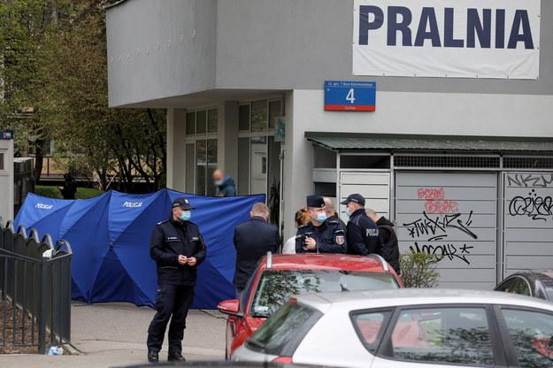 Służby na miejscu zdarzenia /Paweł Supernak /PAP