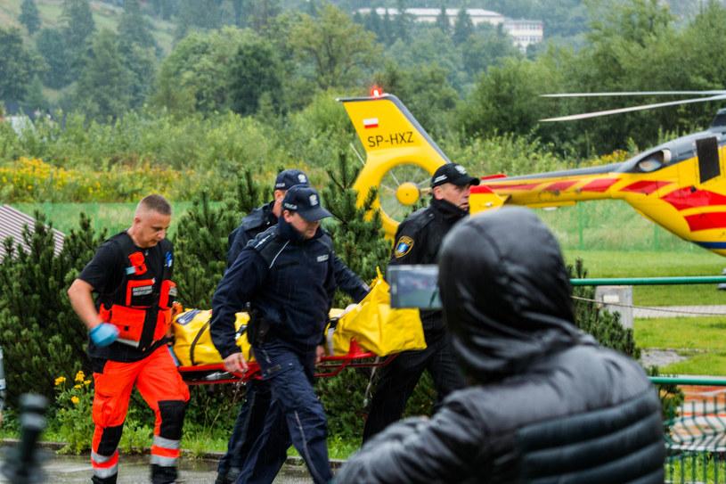 Służby pracujące na miejscu tragedii /Michal Ostaszewski /Reporter