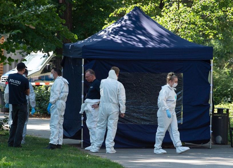 Służby w Berlinie tuż po zamordowaniu Zelimchana Changoszwilego /AFP