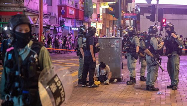 Służby w Hongkongu /JEROME FAVRE /PAP/EPA