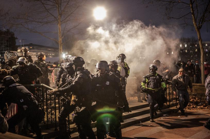 Służby w ogniu krytyki po akcji na Kapitolu /Shay Horse/NurPhoto /Getty Images