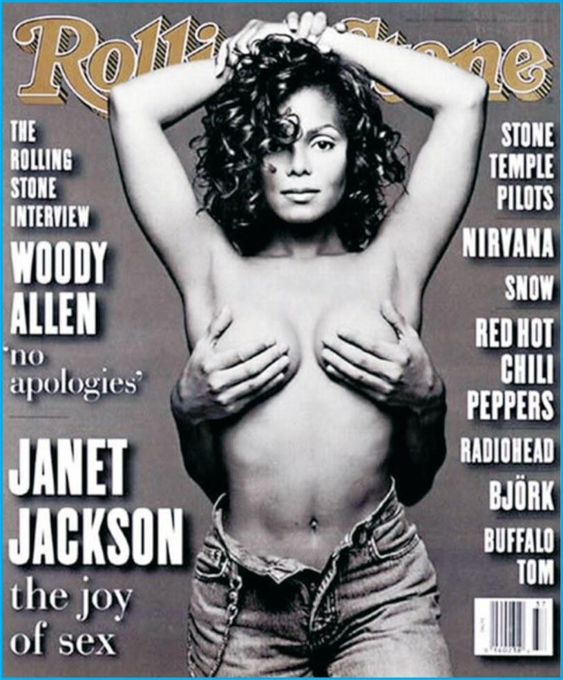 Słynna okładka Rolling Stone z Janet Jackson pasuje jak ulał do święta łapania za biust /materiały prasowe
